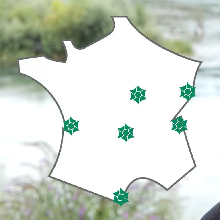 cartographie des sites tests présentant leur emplacement sur le territoire de la france métropolitaine